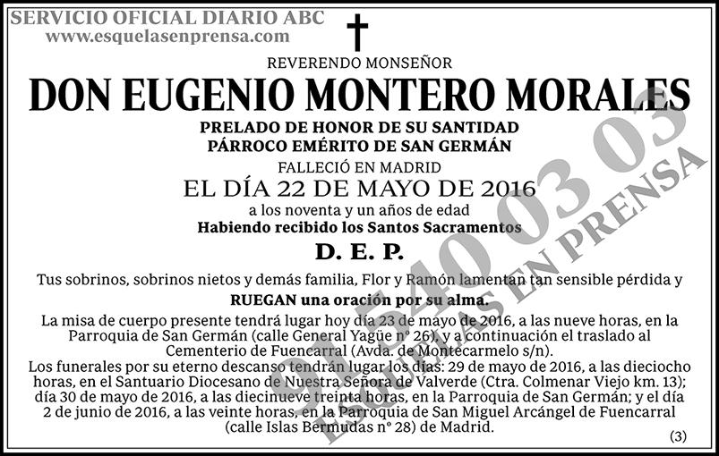 Eugenio Montero Morales